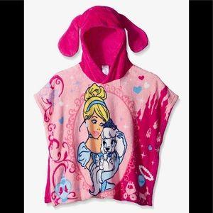 Disney Girls Cinderella and Pumpkin Plush Poncho